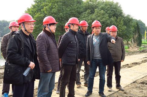 局领导率队检查在建水利工程安全生产工作